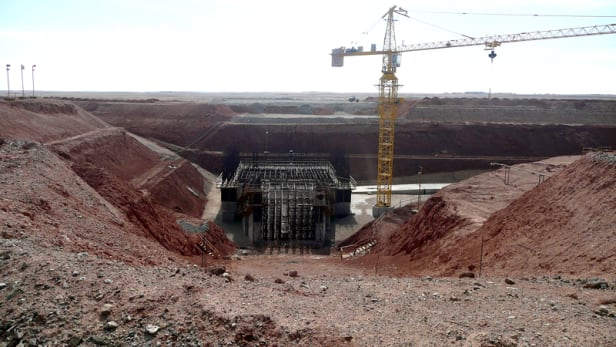 Part of the Oyu Tolgoi mining site. Photo by: Brücke-Osteuropa